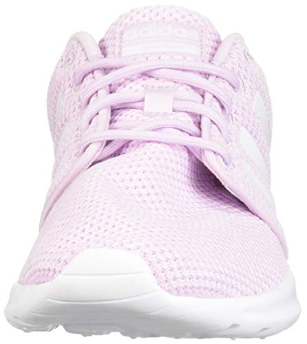 adidas Women's Cloudfoam QT Racer, White/aero Pink, 5.5 M US by adidas (Image #4)