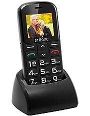"""Telefono Cellulare per Anziani con Tasti Grandi, Artfone CS182 2G Cellulare Facile da usare con Tasto SOS, 1.77"""" Display, Supporto SIM Doppio, Chiamata Rapida and Torcia(Compreso il caricabatterie)"""