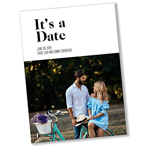 It's A Date | Save The Date | Personalized | Photo Card -