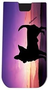 Rikki KnightTM Chihuahua Dog At Sunset - Smart Phone Neoprene Protective Pouch for iPhone 4/4s/5/5s/5c, Motorola Moto X, Galaxy S3/S4/Note 3/Ace 2, LG Optimus Gpro/G2/L3/4X HD, Sony Xperia Z1S/U, HTC Droid/One/One X/Pro/mini, Blackberry G10/Z10, Nexus 4/5,
