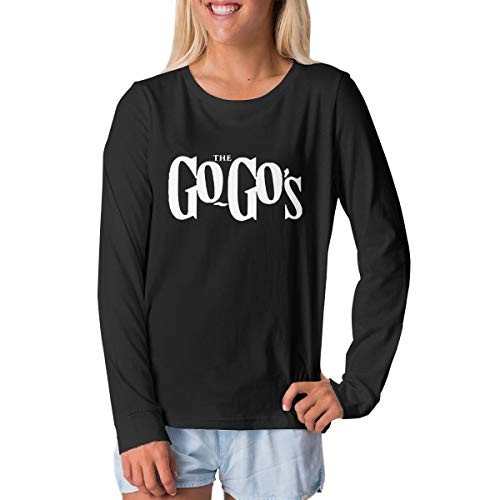 TammyRLewis Teenagers Unisex The Go Gos Funny Junior Long Sleeve T-Shirt Black