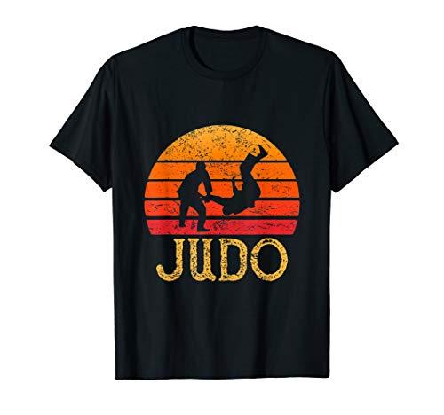 - Judo T-Shirt Cool Vintage Fighter Men Boy Girl