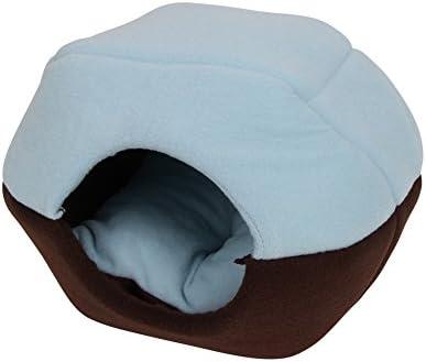 Delight eShop Soft Pet Bed Warm Cat Dog Kitten Cave House Puppy Nest Kennel Cushion Mat