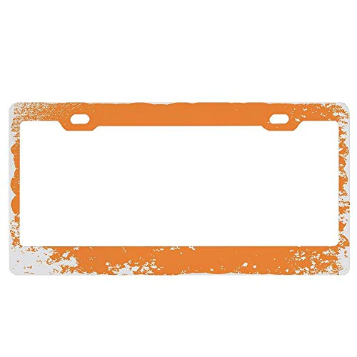 GqutiyulUCOOL Vintage Halloween Trick or Treat Halloween Aluminum Metal License Plate Frame and Screw Cap, Decor License Plate Frames for Women/Men 2 Holes ()