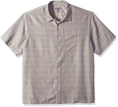 Van Heusen Mens Big and Tall Poly Rayon Short Sleeve Button Down Shirt