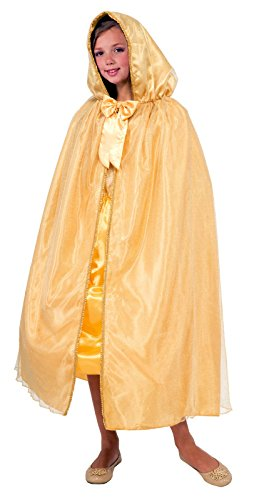 Largemouth Child's Hooded Gold Cape (Gold)