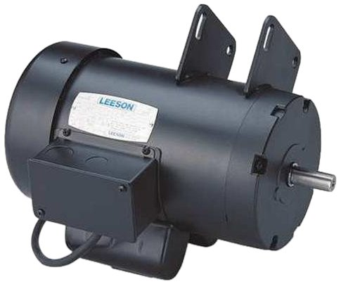 Leeson 120728.00 Contractors Saw Motor, 1 Phase, 145Y Frame, Round Mounting, 3HP, 3600 RPM, 230V Voltage, 60Hz Fequency by Leeson