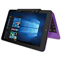 2016 RCA Cambio Purple 10.1' 2-in-1 Tablet PC with Detachable Keyboard and Windows 10