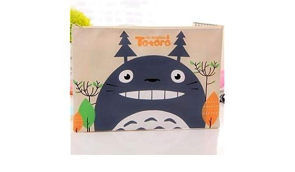 ZHJJIL Lindo Totoro Estuche de Lápices de Alta Capacidad Estuche de Lápices Kawaii Lona Bolsa de Lápiz Para Niños Regalos Escuela Material de Oficina Japón Papelería 4: Amazon.es: Oficina y papelería