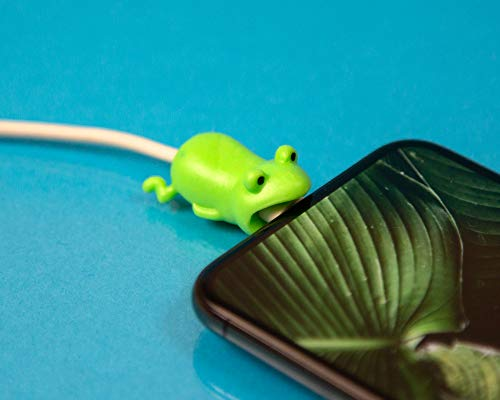 Frog Cable Chomper | Cord Protector Animals| Animal Cable Protector | Animal Bite Cable Protector | Cable Protector Animal | USB Cable Protector Animal | Animal Charger Cable Protector |