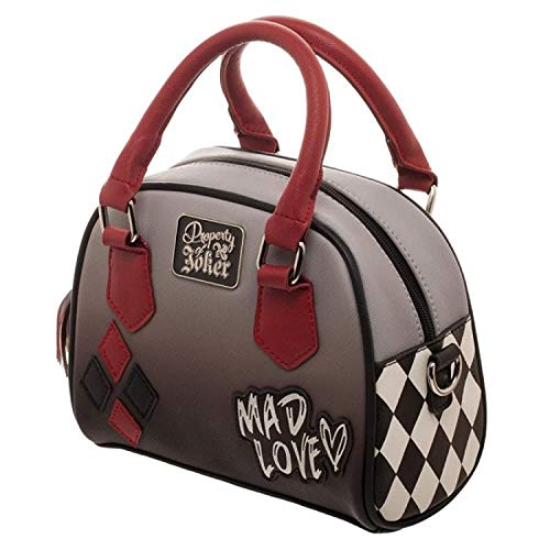 DC Comics Harley Quinn Mad Love Mini Bowler Handbag ()