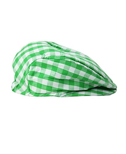 RuggedButts Infant/Toddler Boys Green Gingham Drivers Cap - Green - 0-6m