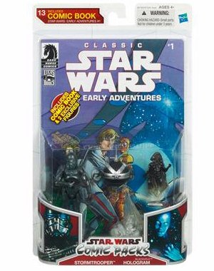 Star Wars: Stormtrooper & Blackhole Hologram Action Figure Comic -
