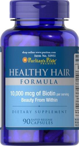 Гордость Здоровые волосы Формула пуританской с Биотин 10 000 мкг-90 капсул