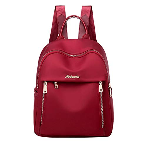 Oucan Fashion Lady Wild Solid Color Oxford Cloth Large Capacity Backpack Student Bag ()