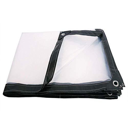 一般化するジャーナリストテレックスQIANGDA トラックシート荷台カバー防水 プラスチック小屋 防塵 透明 屋根カバー アウトドア (120g / m 2) 複数のサイズ (色 : トランスペアレント, サイズ さいず : 4x4m)