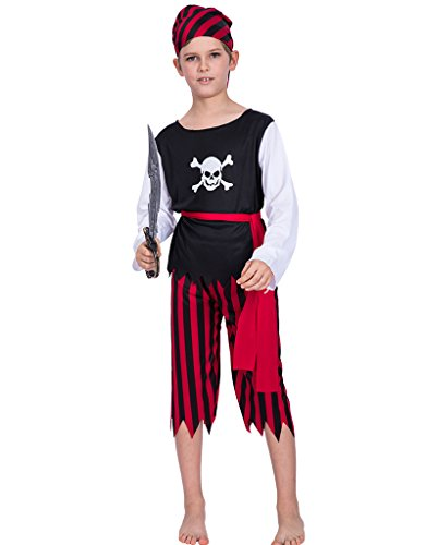 EraSpooky Boys Halloween Skull Pirate Costume