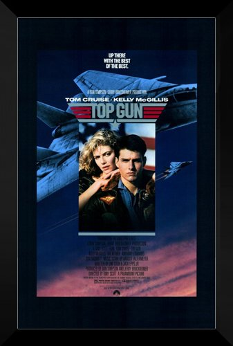 Top Gun FRAMED 27x40 Movie Poster: Tom Cruise