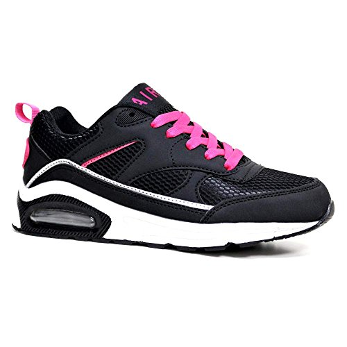 Running Concept Size Ladies Absorbing RUSHOUR 90 Air Max 3 Gym Shoes Black 8 Sports Pink Fitness Shock Trainer Bubble 4xxSdFwq