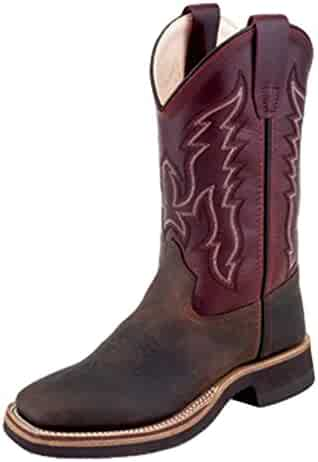 579407bf4634 Old West Kids Boots Unisex Broad Square Toe Crepe (Toddler/Little Kid)