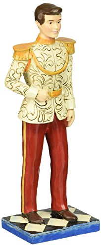 "Disney Traditions by Jim Shore Cinderella 65th Anniversary Prince Charming Stone Resin Figurine 7.5"""