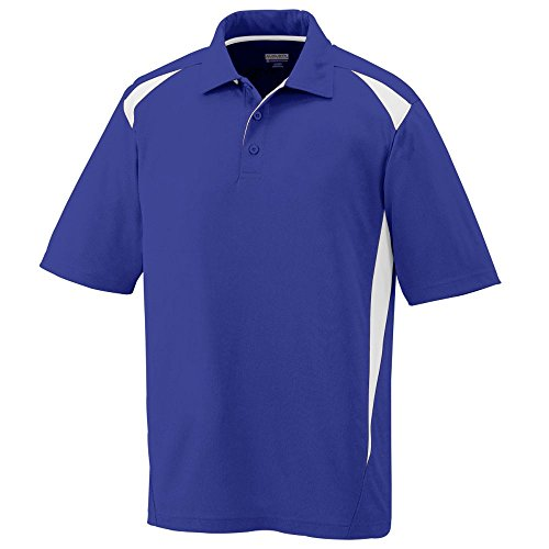 Best deals Augusta Sportswear Premier Polo, Purple/White, -Large
