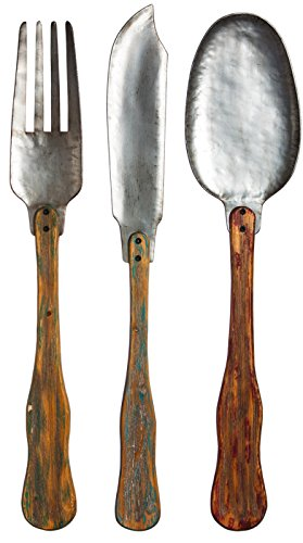 Knife, Fork, & Spoon Set of 3 Metal