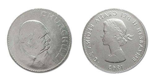 Silver plated 1965 Winston Churchill commemorative crown - collectors item - Churchill Crown