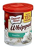 Duncan Hines Whipped Frosting Vanilla Gluten Free 14 Oz. Pack Of 3.