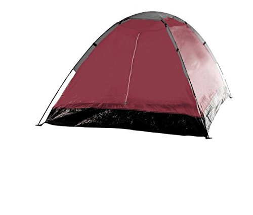Happy Camper 2-Person Tent, Dome Tents for Camping with Carry Bag by Wakeman Outdoors (Camping Gear for Hiking, Backpacking, and Traveling) - RED (Set of 2)