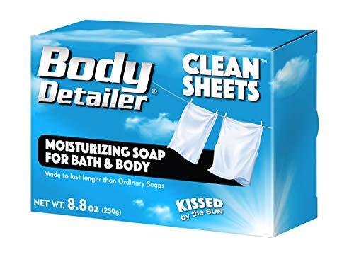 Body Detailer CLEAN SHEETS Moisturizing Bath Soap Bar 8.8 oz ()