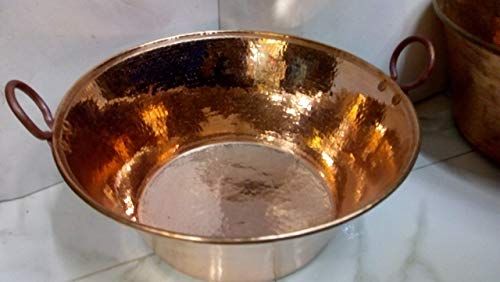 copper saucepan, hammered by hand, solid copper, for cornices or sweets perfect for cooking
