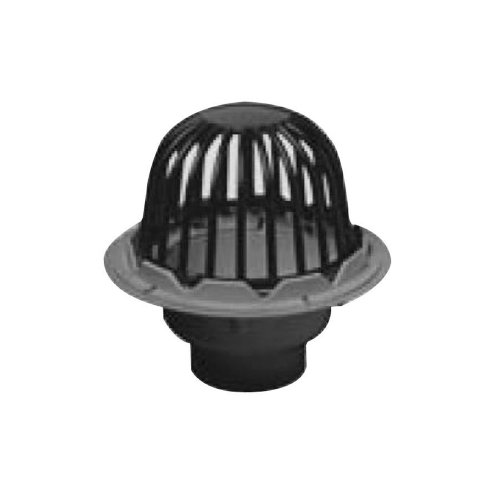 Oatey 78046 PVC Roof Drain with Cast Iron Dome and Dam Collar, 6-Inch