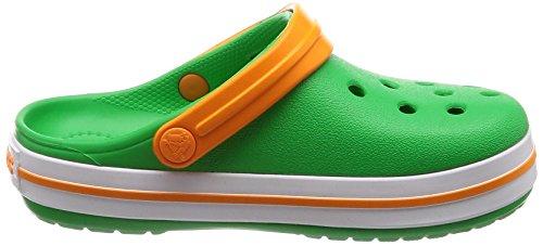 Clog Verde Unisex Zuecos Crocs grass Crocband Orange blazing Niños Green white qZT5ngR4
