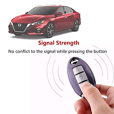 TL Compatible for Nissan Infiniti Key Fob Cover-Soft TPU Key Fob Case Sleeve Protector Shell Remote Smart Key Holder Jacket with Key Chain for Nissan Armada Murano Rogue Maxima Altima Sedan (Purple): Automotive