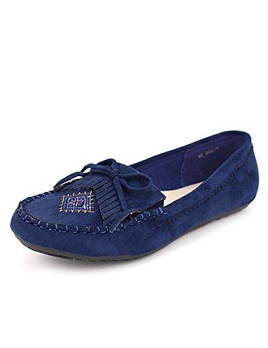 Blue Mode Ethinka Femme Mocassin Cendriyon Bleu Chaussures x5Sq0WtFTw