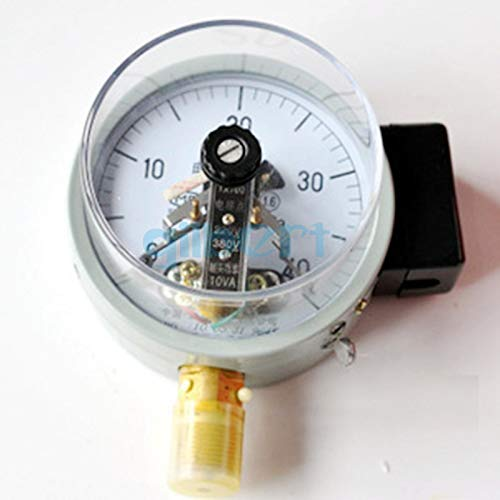 Fevas YX-100 0.1-60 Mpa 100mm Dial Diam 3.9 inch Electric Contact Pressure Gauge Pneumatic - (Color: 0-0.16Mpa)