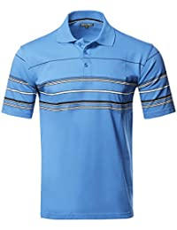 Men's Basic Everyday Stripe Polo T-Shirt