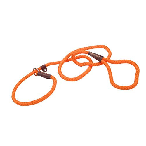 Remington Braided Rope Dog Slip Leash | Safety Orange Color | 6-Feet Long (1-Pack)