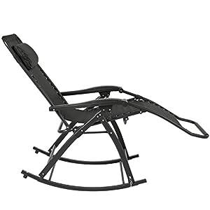 Best Choice Products Zero Gravity Rocking Chair Lounge Porch Seat Deck Patio Outdoor Yard Backyard BK