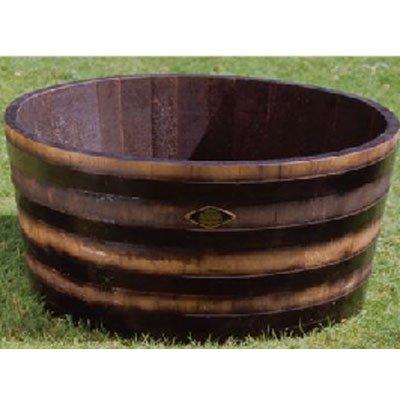 長谷川工業(ハセガワ) ウイスキー樽プランター 椀型90 GB-9545(ブラック) B0030YGVLU  ブラック 192L