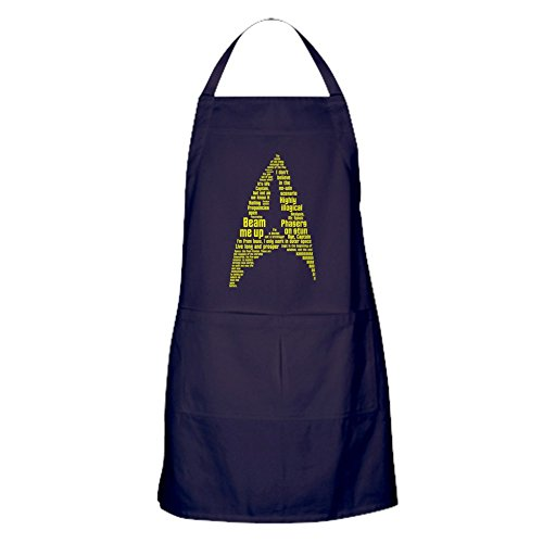 (CafePress Star Trek Quotes (Insignia) Kitchen Apron with Pockets, Grilling Apron, Baking Apron)
