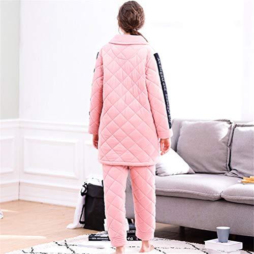 Nouveau Automne Veste Cardigan L Pyjama Service Accueil Corail Rghop En Dames Revers Femmes Matelassé Coton Costume AxdnqR