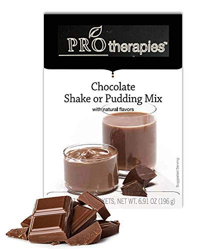 High Protein Pudding Mix - Chocolate Low-Carb Instant Diet Pudding Mix, Low Calorie Weight Loss Shake/Pudding, 7 Count