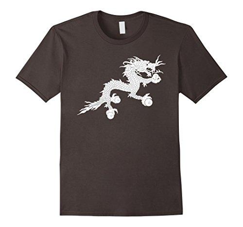 Men's Bhutan Flag Druk Thunder Dragon T-Shirt Small Asphalt