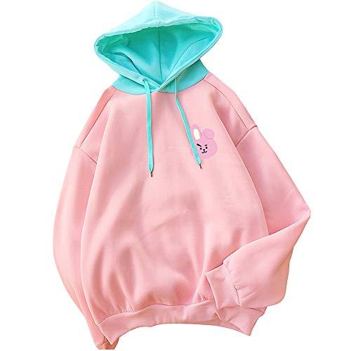 Kpop BTS Hoodie Love Yourself BT21 Sweatshirt Chimmy Cooky Tata Jacket Pullover Tops (Cooky, L) -