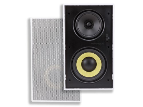 Monoprice 7604 6.50 inches Dual Woofer- Micro Flange In-Wall