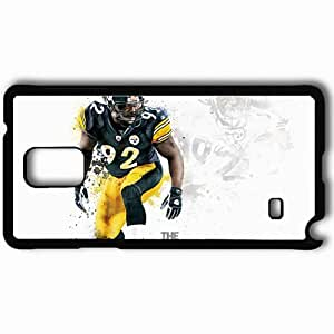 Personalized Samsung Note 4 Cell phone Case/Cover Skin 14419 The Silverback by Thirty3Grafix Black