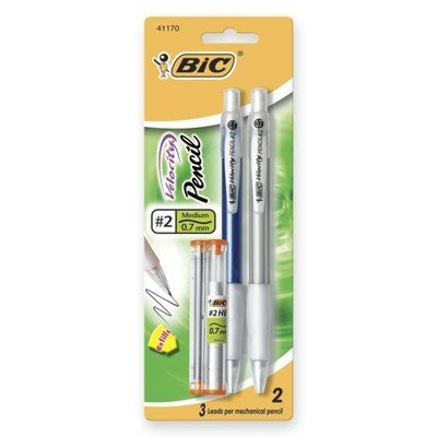 Bic MV7P21-BLACK 0.7mm Velocity Mechanical Pencil 2 Count -  Colors May Vary