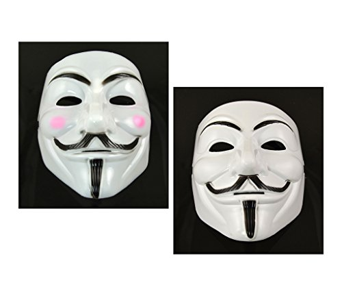 2 pcs Man&Woman V for Vendetta Anonymous Guy Fawkes Masquerade Halloween -